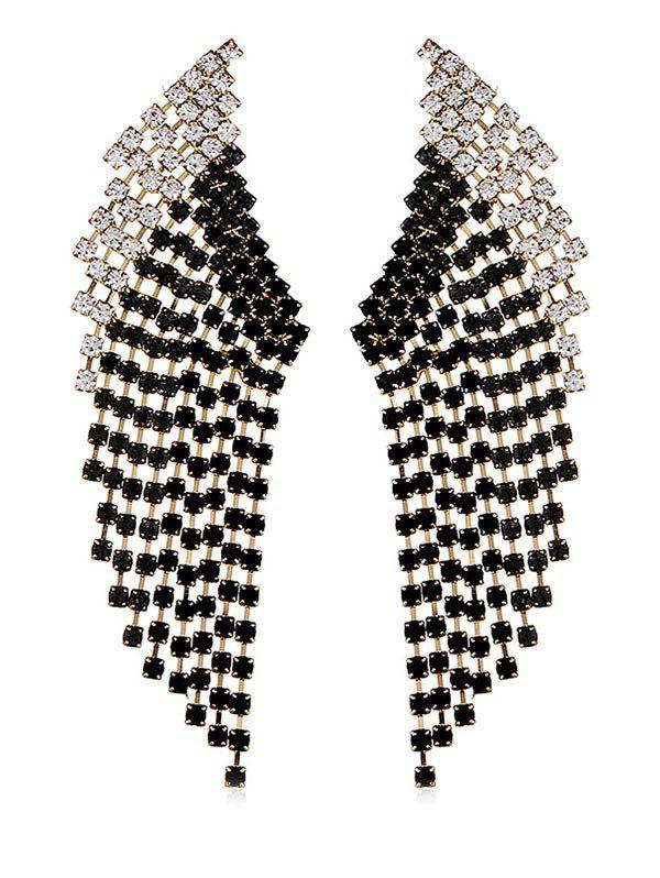 Outfits Geometric Rhinestone Decoration Drop Earrings