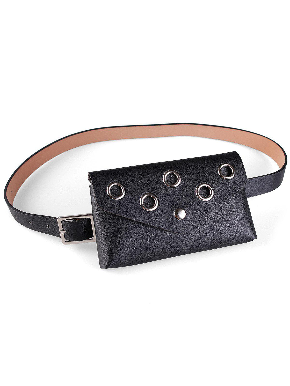 Sale Hollow Out Rivets Fanny Pack Belt Bag