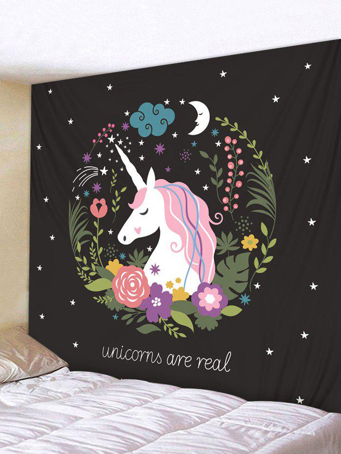 Hot Unicorn Flower Star Moon Tapestry Wall Hanging Decor