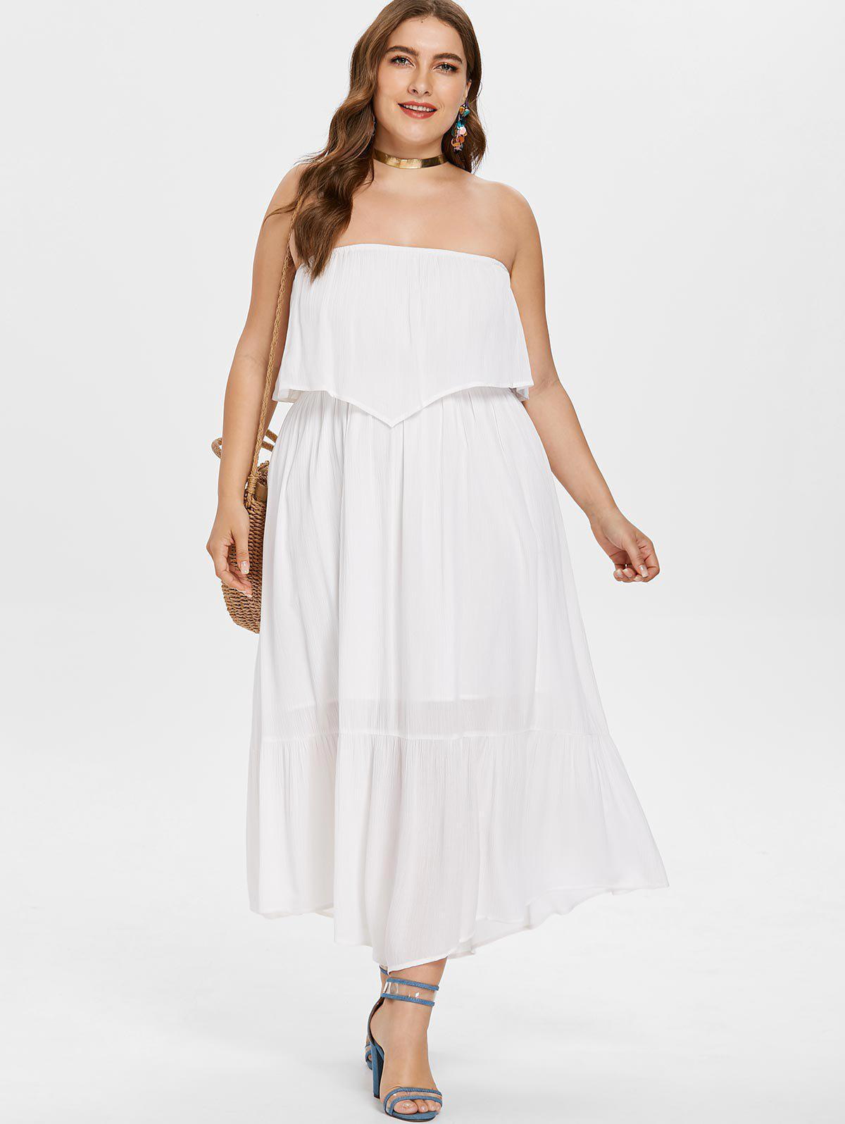 Sale Plus Size Bandeau Long Dress