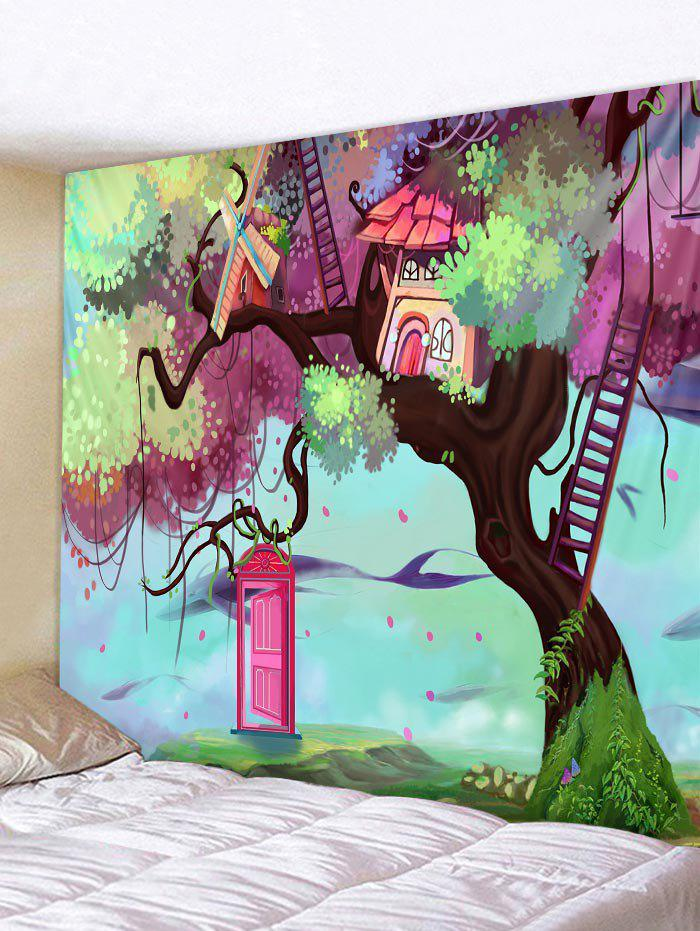 Discount Dimension Door Tree Pattern Tapestry Wall Decoration