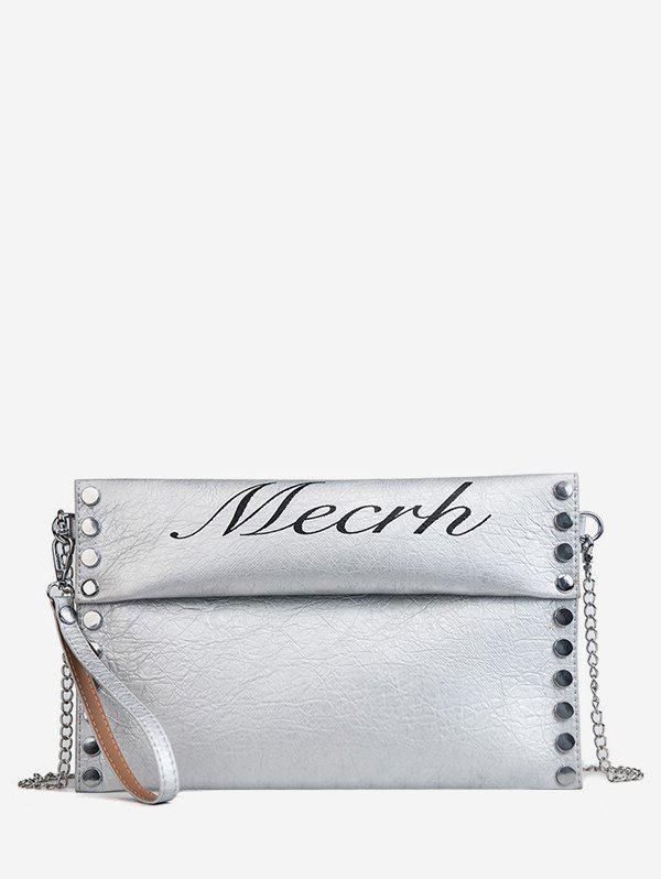 Best PU Leather Chic Studded Crossbody Bag with Wristlet