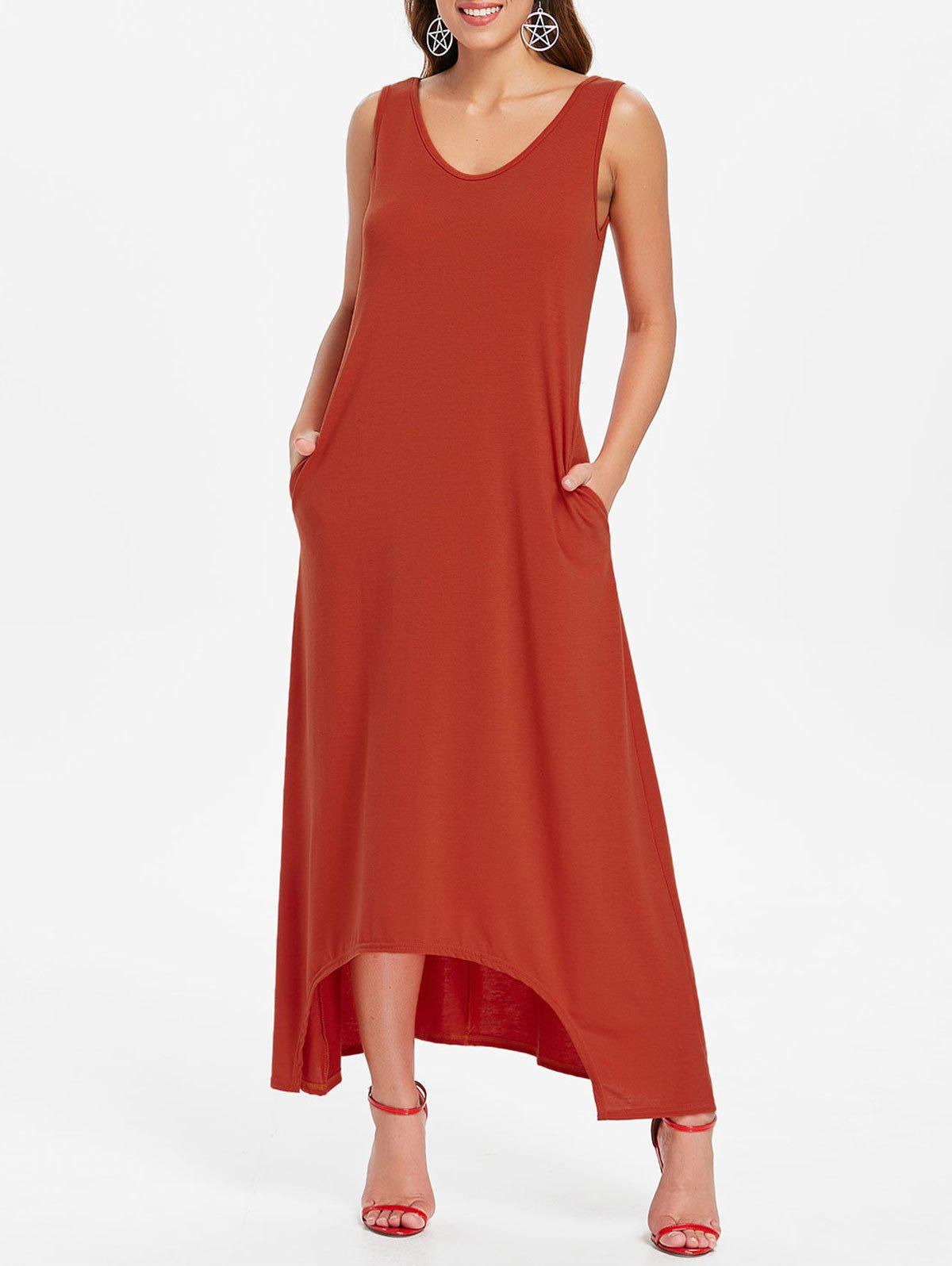 Shop Sleeveless Front Pockets Maxi Dress