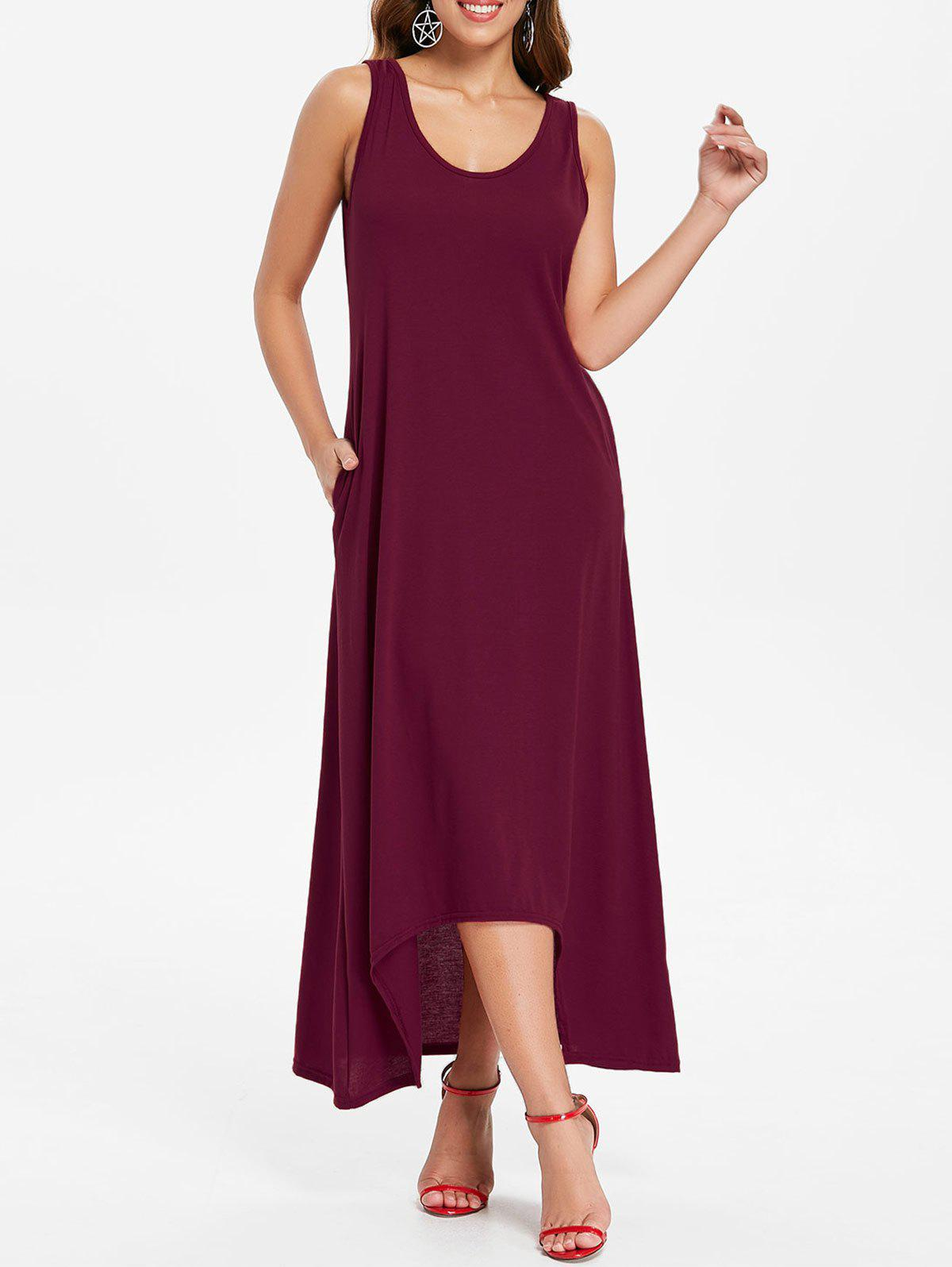 Best Sleeveless Front Pockets Maxi Dress