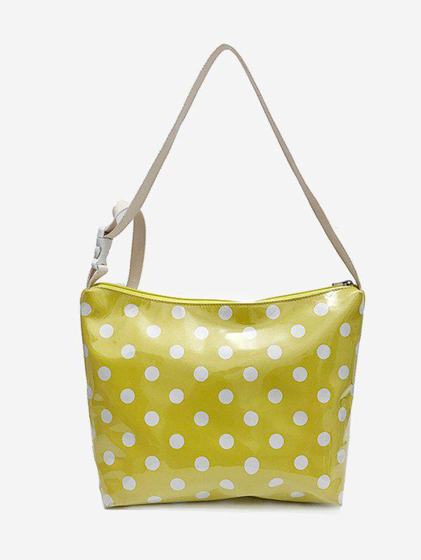 Cheap Leisure Vacation Large Capacity Polka Dot Crossbody Bag