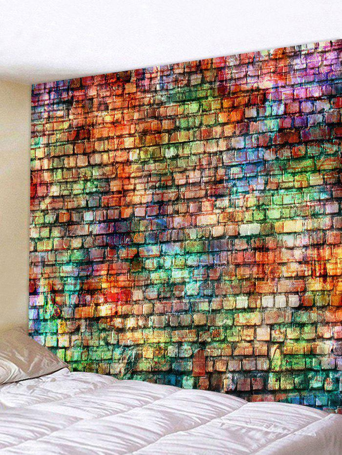 Trendy Colorful Brick Pattern Tapestry Wall Hanging Decor