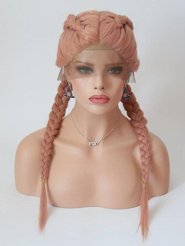 Outfits Center Parting Long Braids Cosplay Lolita Lace Front Synthetic Wig