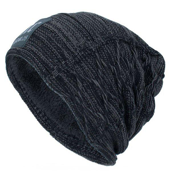 f2ae8c1851b 2019 Letters Label Double-deck Thicken Knit Hat