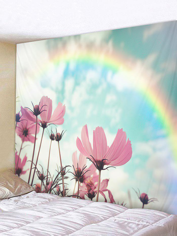 Unique Rainbow Flower Pattern Tapestry Wall Hanging Decor