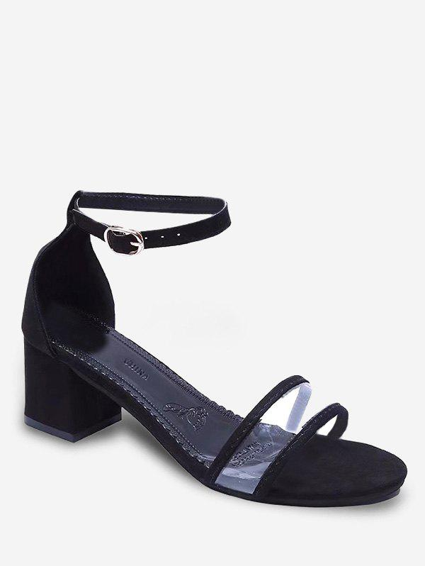New Ankle Strap Chic Block Heel Sandals