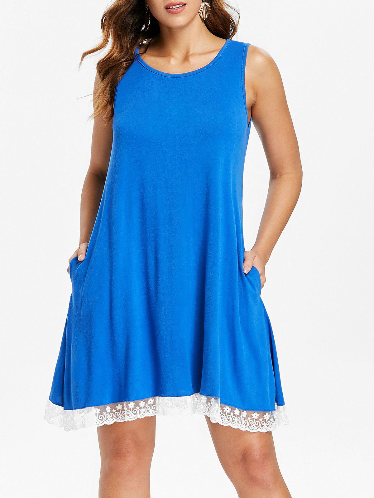 Store Lace Hemline Sleeveless Shift Dress