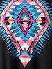 Plus Size Tribal Print Handkerchief T-shirt -