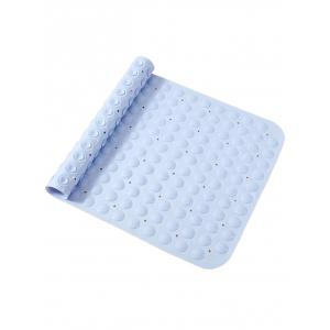 PVC Bathtub Non-slip Massage Bath Mat with Suction Cups -