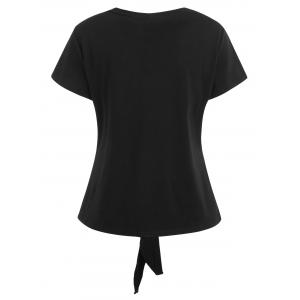 Self Tie Knotted Button Up Top -