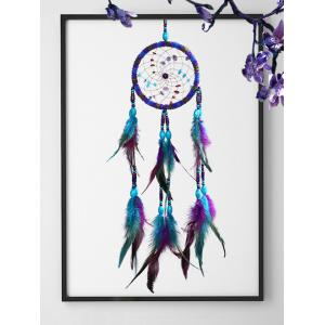Ethnic Style Feather Beads Dreamcatcher Wall Hanging -