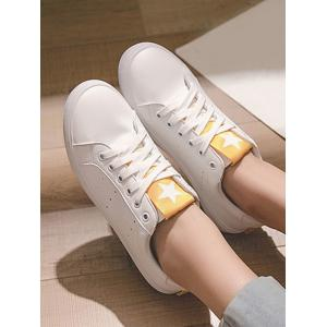 Lace Up Low Heel Leisure Outdoor Sneakers -