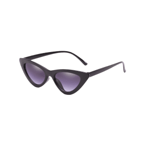 Unique Plastic Frame Flat Lens Catty Sunglasses -