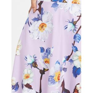 Round Neck Floral Flare Dress -