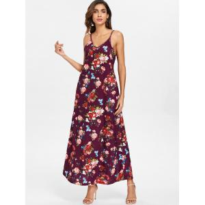 Floral Print Front Pocket Maxi Dress -