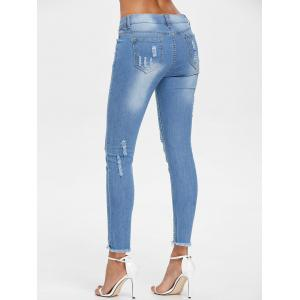 Raw Edge Ninth Ripped Jeans -