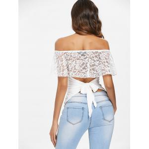 Lace Panel Off The Shoulder T-shirt -