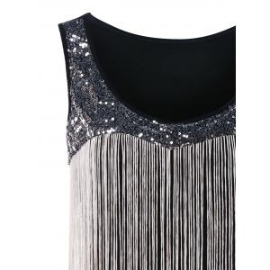 Sequin Fringed Gradient Tank Top -