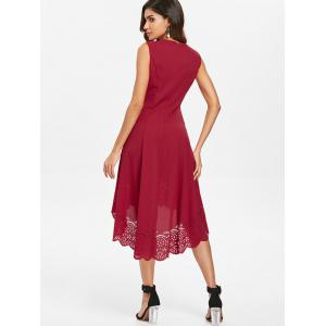 Casual Midi Dress with Cutwork Hem -