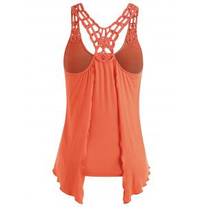 Double Layered Crochet Back Tank Top -