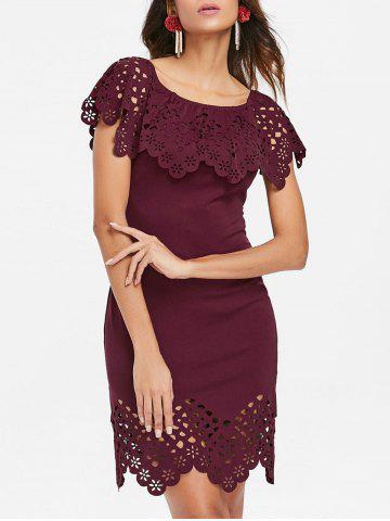 Outfit Laser Cut Ruffle Bodycon Dress