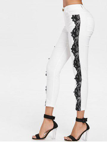 Outfits Lace Panel Skinny Pants