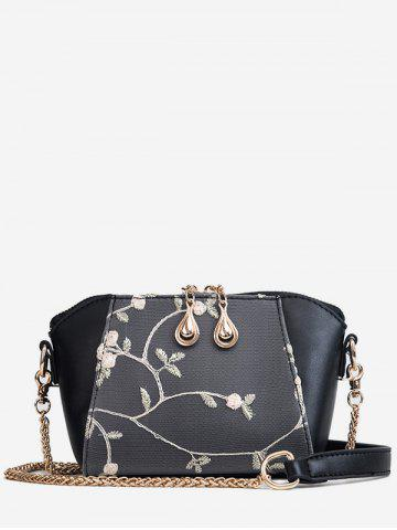 Store Flower Embroidery Shell Shaped Chic Crossbody Bag