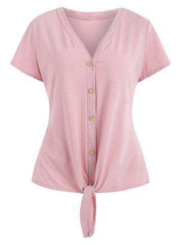 Shop Self Tie Knotted Button Up Top