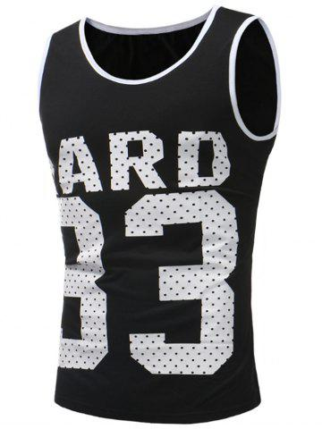 Chic 33 and Letter Print Tank Top