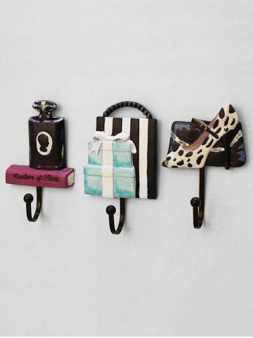 Online High Heels Perfume Gift Shaped Wall Rack Hooks 3PCS Set