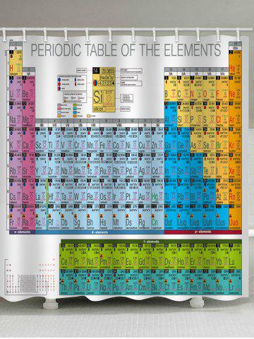 Outfits Chemical Elements Printed Waterproof Bath Curtain
