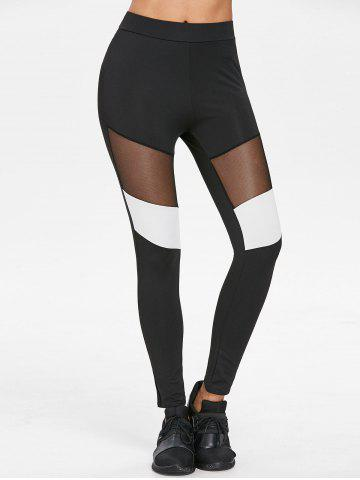 New Elastic Waist Color Block Leggings