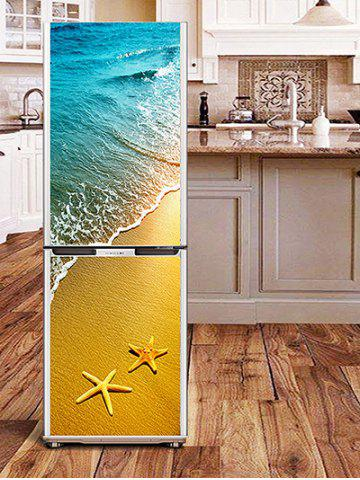 Shops Beach Starfish Print DIY Fridge Sticker