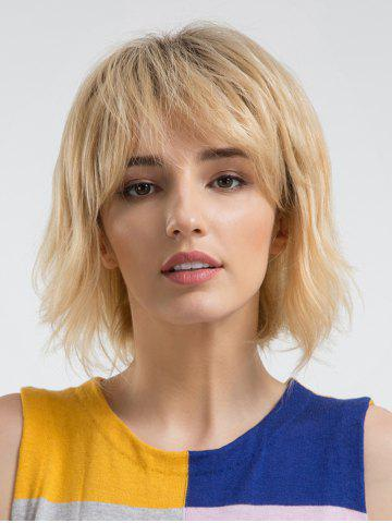 Outfit Short Side Fringe Straight Party Human Hair Wig