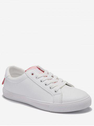 Unique Lace Up Low Heel Leisure Outdoor Sneakers