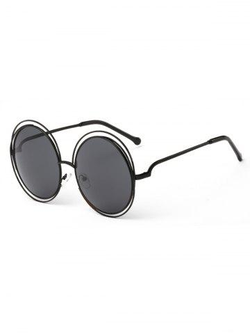 Chic Unique Hollow Out Frame Round Sunglasses