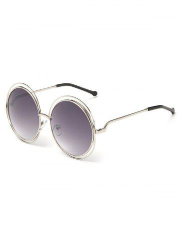 Hot Unique Hollow Out Frame Round Sunglasses