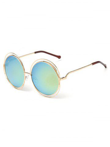 Affordable Unique Hollow Out Frame Round Sunglasses