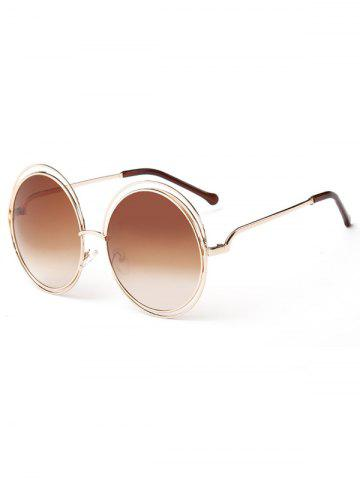 New Unique Hollow Out Frame Round Sunglasses