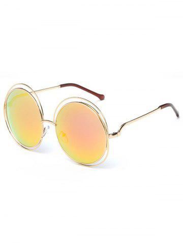 Shop Unique Hollow Out Frame Round Sunglasses