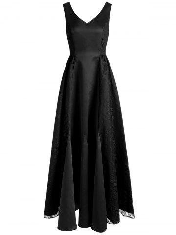 Trendy V Neck Maxi Party Dress
