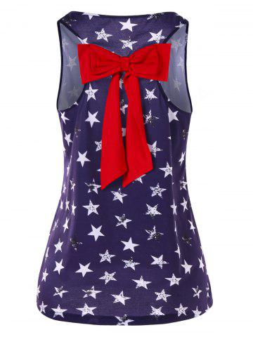 Outfits Stars Print Tank Top with Bowknot