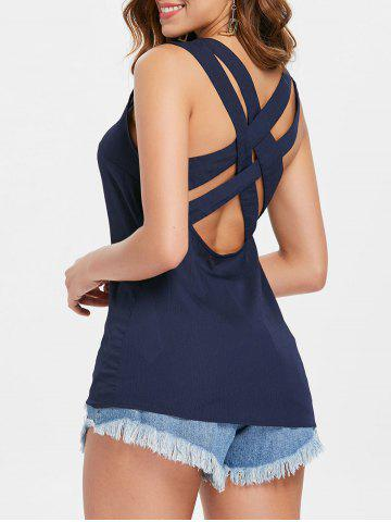 Affordable Criss Cross Open Back Tank Top