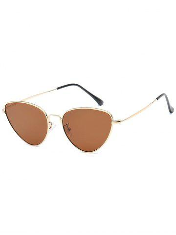 Unique Vintage Metal Full Frame Catty Sunglasses