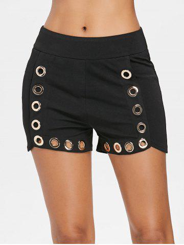 Buy Hollow Out Shorts with Grommets