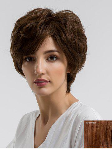 Unique Short Side Bang Fluffy Slightly Curly Human Hair Wig